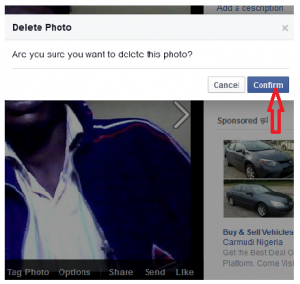 confirm profile  picture deletion