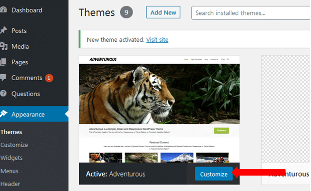 Customizing your blog theme