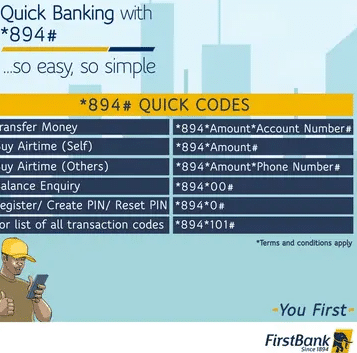 code to check FirstBank account Balance on phone