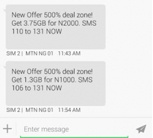 mtn 3.75gb data plan and 1.3gb data plan