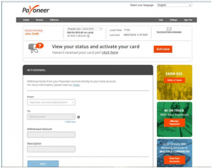 HOW TO WITHDRAW FROM PAYONEER ACCOUNT IN NIGERIA