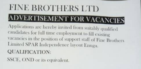 Fine brother's Jobs