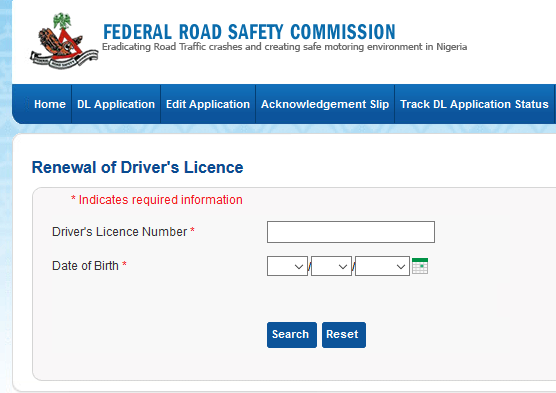 Nigeria driving license renewal