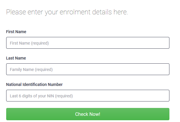 Enter your detail to check your National ID online on NIMC