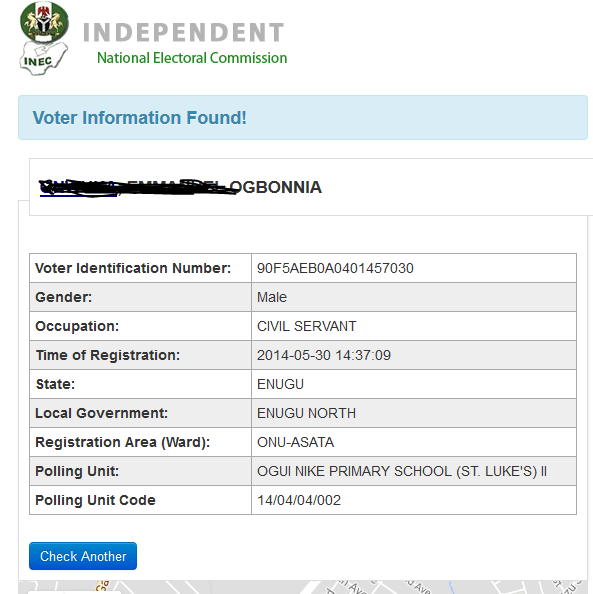 Inec Voter registration verification