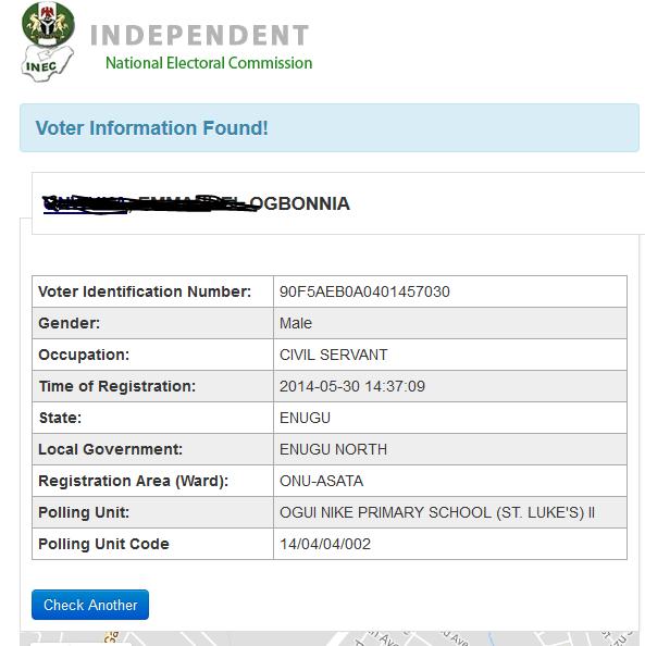Inec Voter registration verification