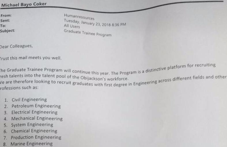 Nestoil Limited Graduate Trainee Program