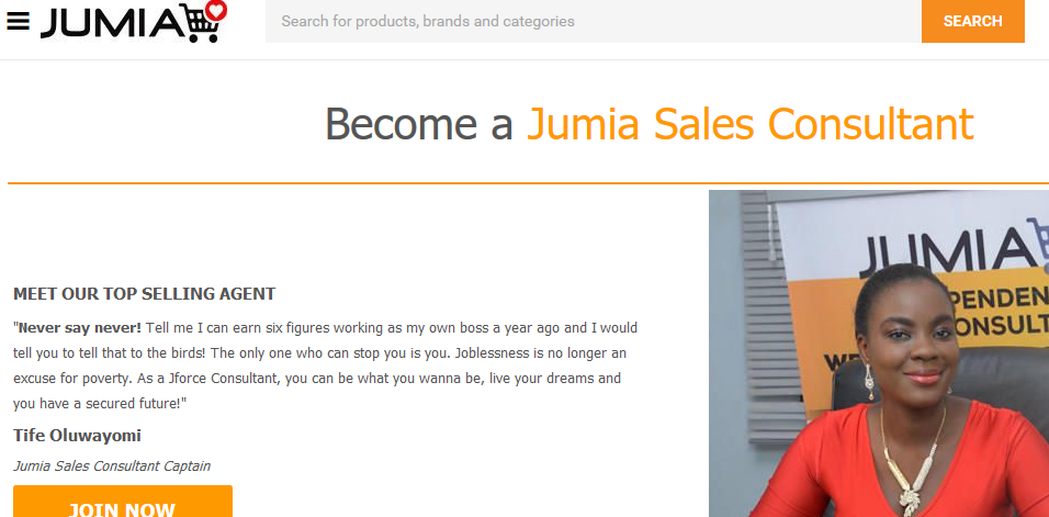 become jumia sale consultantbec