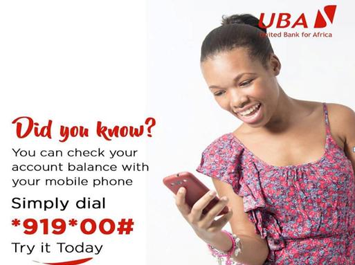 UBA account balance code