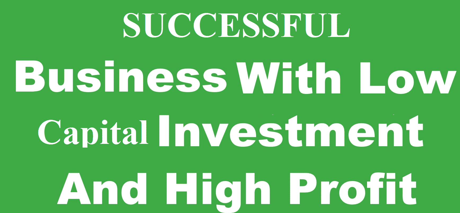 Most successful businesses in Nigeria with low capital