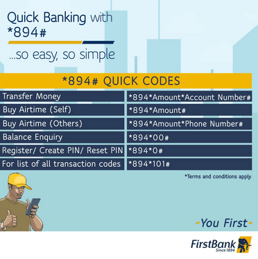 How to Check FirstBank Account Number on Phone Using Code ...