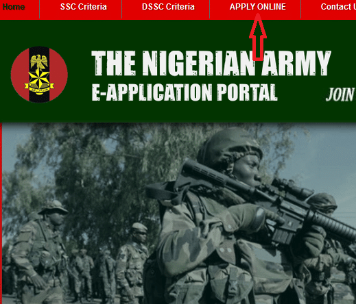 Nigerian Army direct short service commissions Application Portal