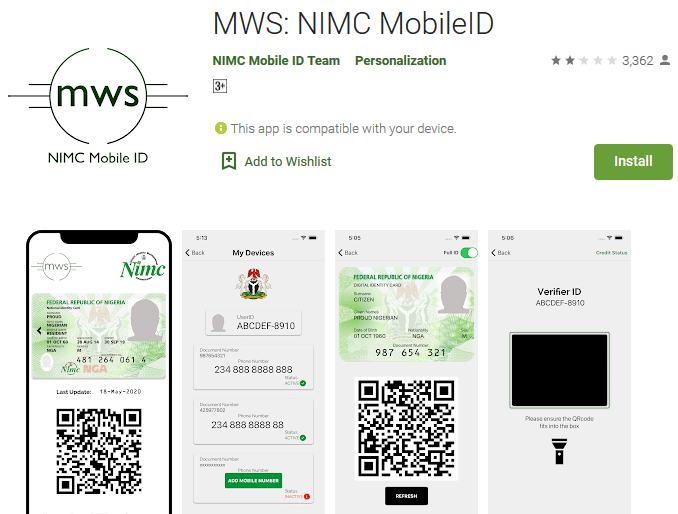 NIMC Mobile ID App and how to print National ID card